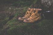 Boots, Stiefel, Wandern, Wald