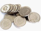 Geld, Münzen, CHF