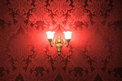 Lampe, Tapete, rot, Ambiente