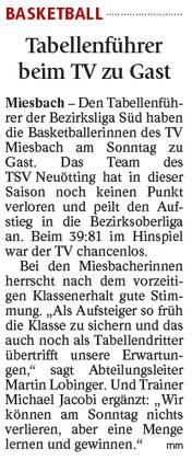 Artikel im Miesbacher Merkur am 03.02.2018 - Zum Vergrößern klicken