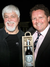 """Sea Shepherd"" Captain Paul Watson and Psychiatrist Dr Anthony Durrell"