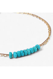 "WANDERLUSTLIFE – ARMBAND ""GOLD & SILK TURQUOISE BEADED"""