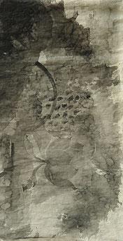 荷花13 LOTUS 13 175X93CM 纸本水墨与矿物色 INK & MINERAL COLOR ON PAPER 2004  (收藏于北京 COLLECTED IN BEIJING)