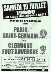 2008-07-19  PSG-Clermont (Amical à Blois, Affiche)