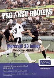 2008-07-23  PSG-KSV Roulers (Amical à Evry-Bondoufle, Affichette)