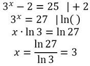 Beispiel für das Lösen von Exponentialgleichungen
