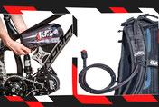 posizionamento della batteria elettrico bici