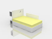ADABED wooden bed