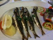 Portugiesische Fische an Kartoffel und Zitrone