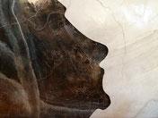 Marmor-Moai-Osterinsel-Tisch-Kunstwerk-Skulptur von künstlerstein.de Mathias Rüffert