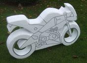 Motorrad-Buell-Skulptur-Kunstwerk von künstlerstein.de Mathias Rüffert