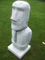 Moai-Rapa Nui-Skulptur-Kunstwerk von künstlerstein.de Mathias Rüffert