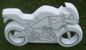 Motorrad-Skulptur-Kunstwerk von künstlerstein.de Mathias Rüffert