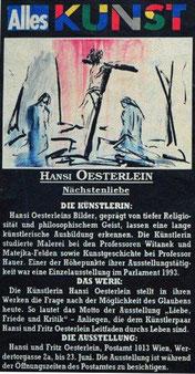 Hansi Oesterlein Nächstenliebe