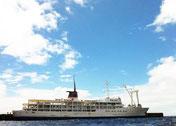 御蔵島に就航する東海汽船
