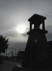 メルヘン交差点に復元している常夜灯