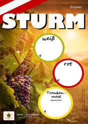 Sturm & Most - Plakat - Steirer Rudi Weghofer - winzerclub.at - Sturmzeit