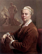 Nicolas de Largillière, vers 1707, Autoportrait en tenue d'atelier / Washington, National Galery of Art.