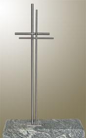 EDELSTAHL GRABKREUZ 120 X 39 CM