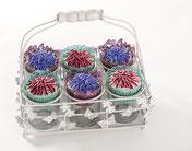 Cupcakes als Blumenkörbchen
