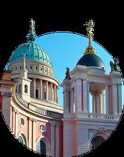 Fortunaportal und Nikolaikirche in Potsdam