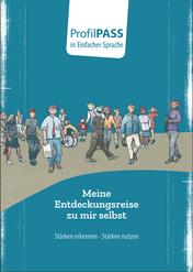 Bild zeigt Workbook ProfilPASS in einfacher Sprache für Menschen mit Migrationshintergrund