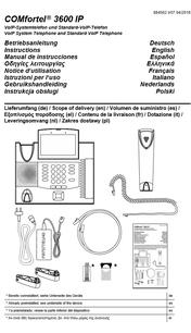 Bedienung: Auerswald COMfortel 1200 IP