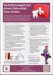 Zahnunfall: Merkblatt für Eltern