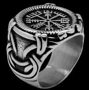 Bague Loki, réalisée à la main en acier inoxydable par Ogvar
