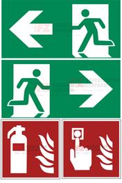 Bild: Schilder nach  ISO 7010 Standart