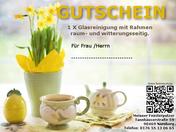 Gutschein Glasreinigung Ostern