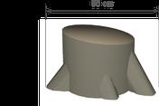 Baumstumpf Durchmesser