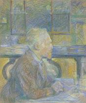 ロートレックが描いたゴッホの肖像。1887年。
