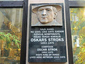 Monument to Oscar Strok.