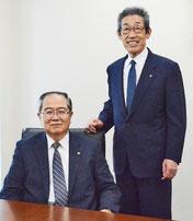 山口新社長(左)と前社長の加藤会長