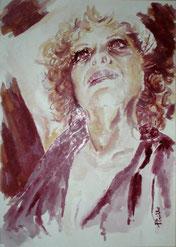 L'autoritratto dipinto col vino Cirò da Maria Teresa Pirillo