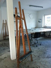 Atelier mit Staffelei