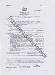 LICENCE SAMUEL ANGORE ( GIOVANNI )