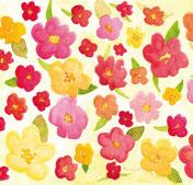 Grußkarte Blumenfeld