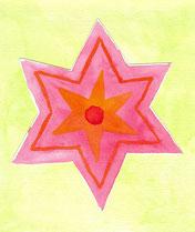 Grußkarte Rosa Stern