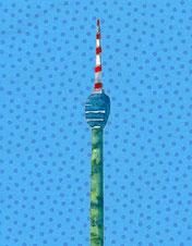 Grußkarte Stuttgart Fernsehturm