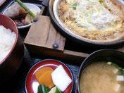 かつ鍋定食 1180円