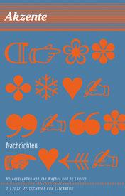 Cover Akzente Nachdichten Herausgegeben von Jan Wager und Jo Lendle