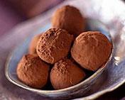 Recette truffes ganache et praliné au chocolat noir