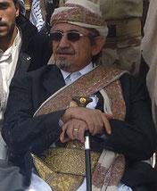 """Sheikh """"Sadiq Al-Ahmar"""" (Oberhaupt der Hashid Stammes-Föderation, Vorsitzender der islamistischen Partei al-Islah - Jemenitische Versammlung für Reform)"""