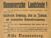 Deutsch-Hannoversche Partei zur Preußenwahl. StA Göttingen