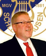 Uwe Klapper, 2. Vorsitzender MGV Schledehausen, Fan vom Hamburger SV