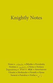 Knightly Notes mit den 40 Regeln von Hazrat Inayat Khan