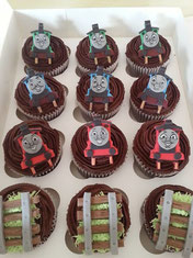 Thomas the Tank Engine Childrens birthday cupcakes