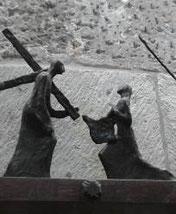 VI Estación, La Verónica limpia el rostro de Jesús